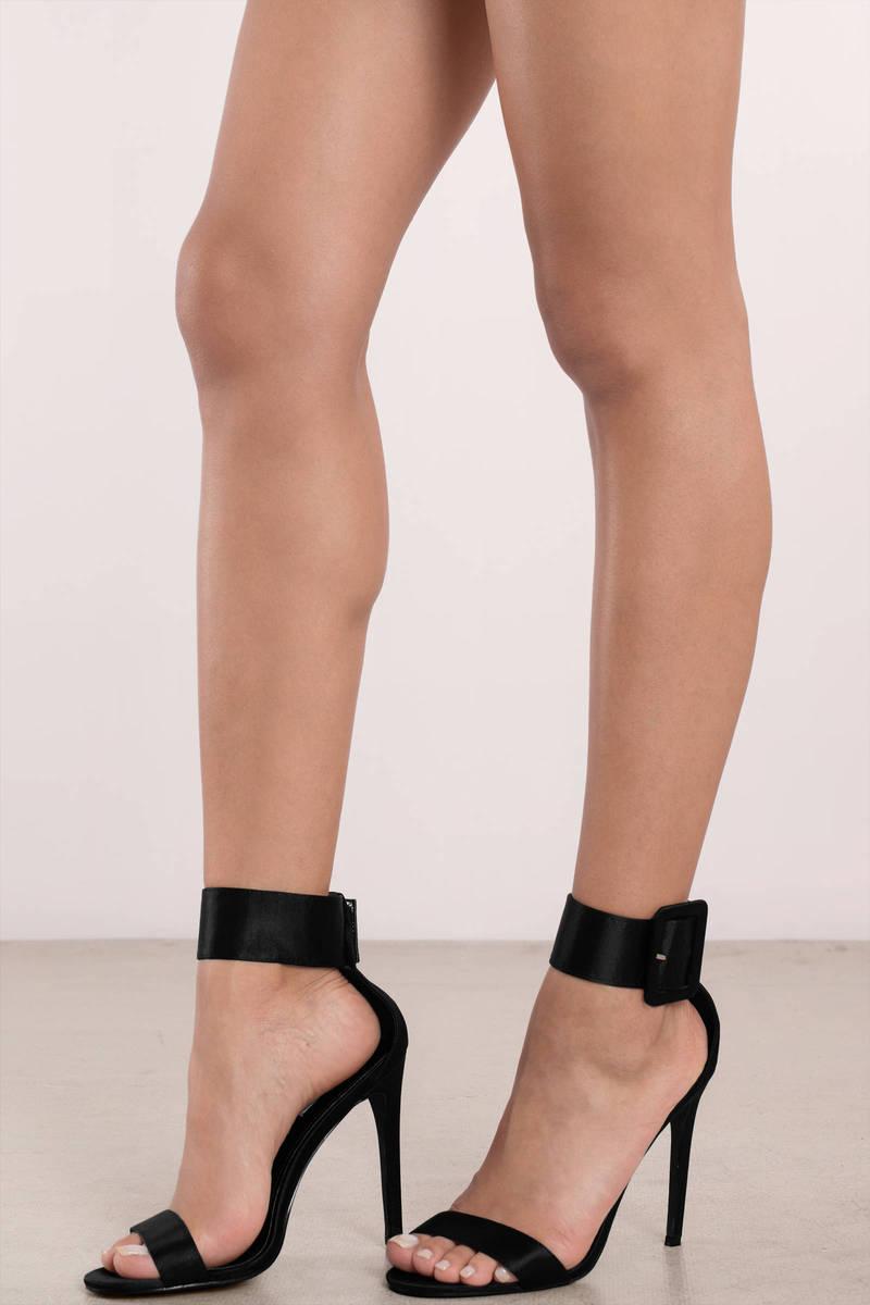 Black Heels - Ankle Strap Heels - Pretty Black Heels | Tobi