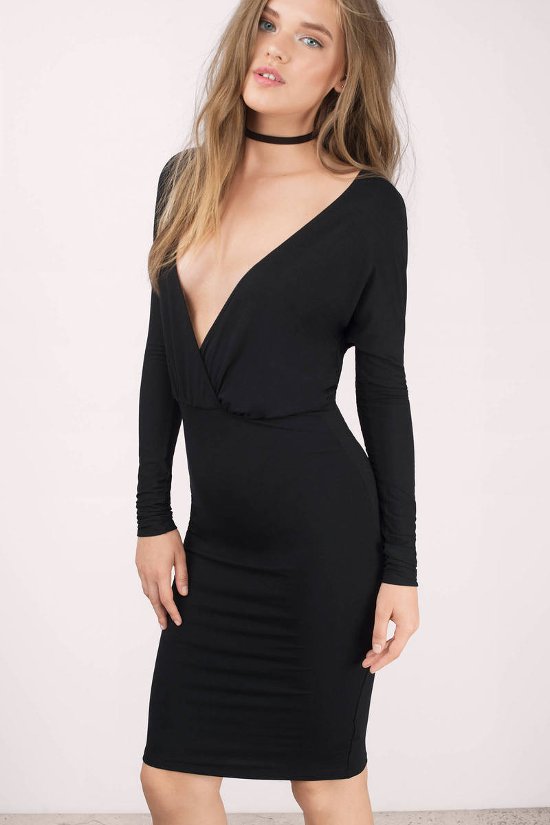 Bella Black Midi Dress