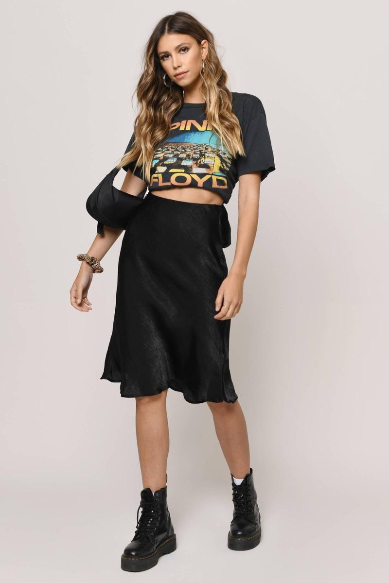 Best of Me Satin Midi Skirt