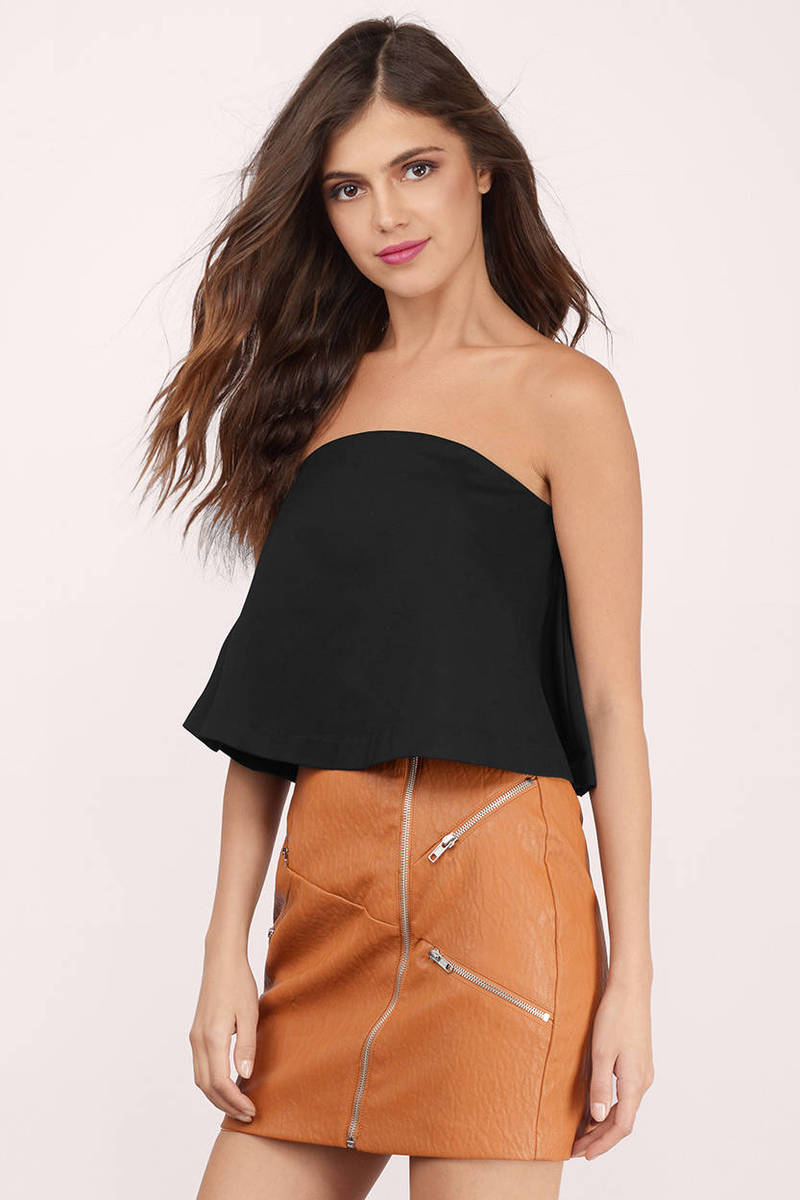 Better Than Expected Black Neoprene Tube Top