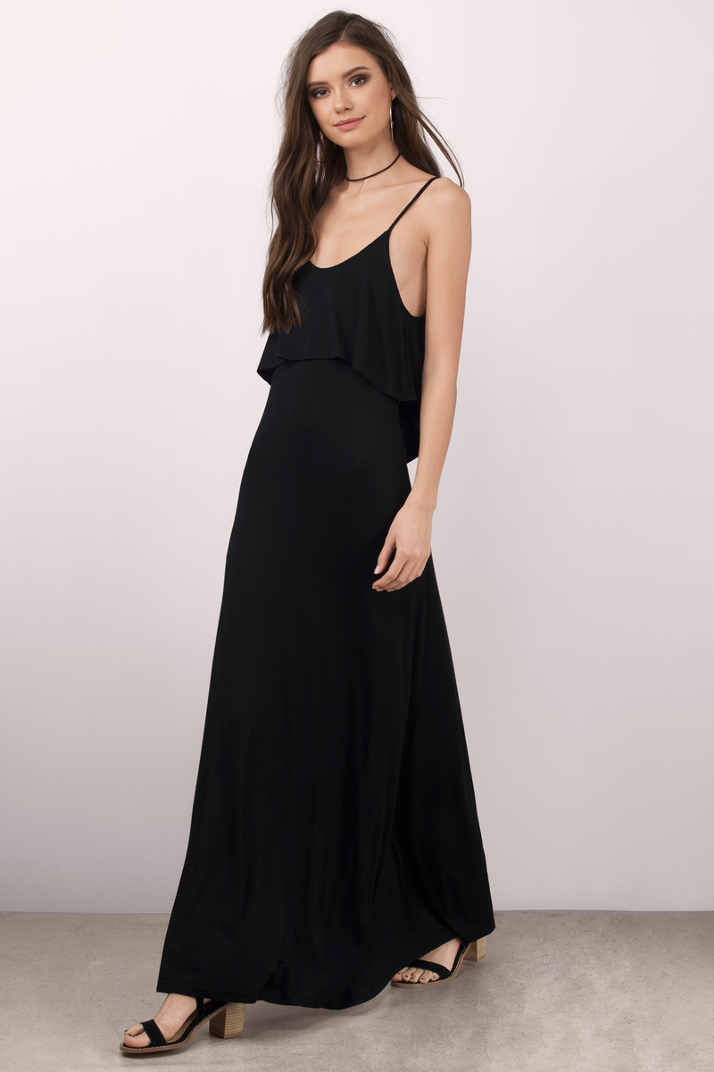 Beyond The Sea Black Maxi Dress