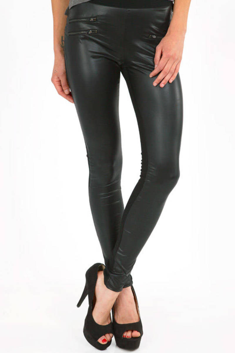 Biker Paneled Leggings