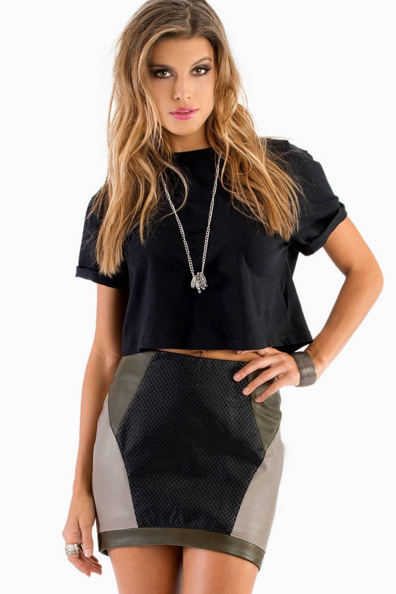 Block It Out Mini Skirt