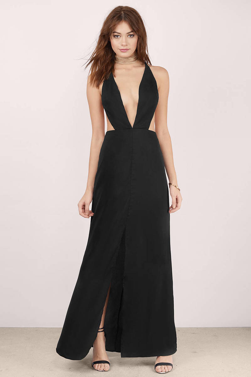 9d84b944755 Sexy Black Dress - Backless Dress - Royal Black Gown - Maxi Dress ...