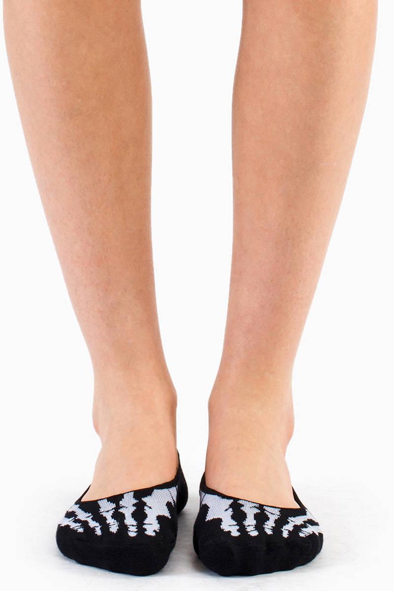Bone No-Show Socks