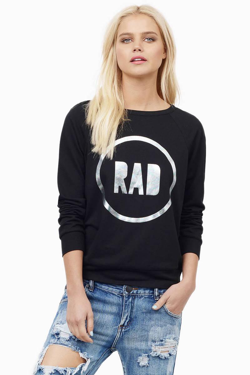Born To Be Rad Blue Sweatshirt