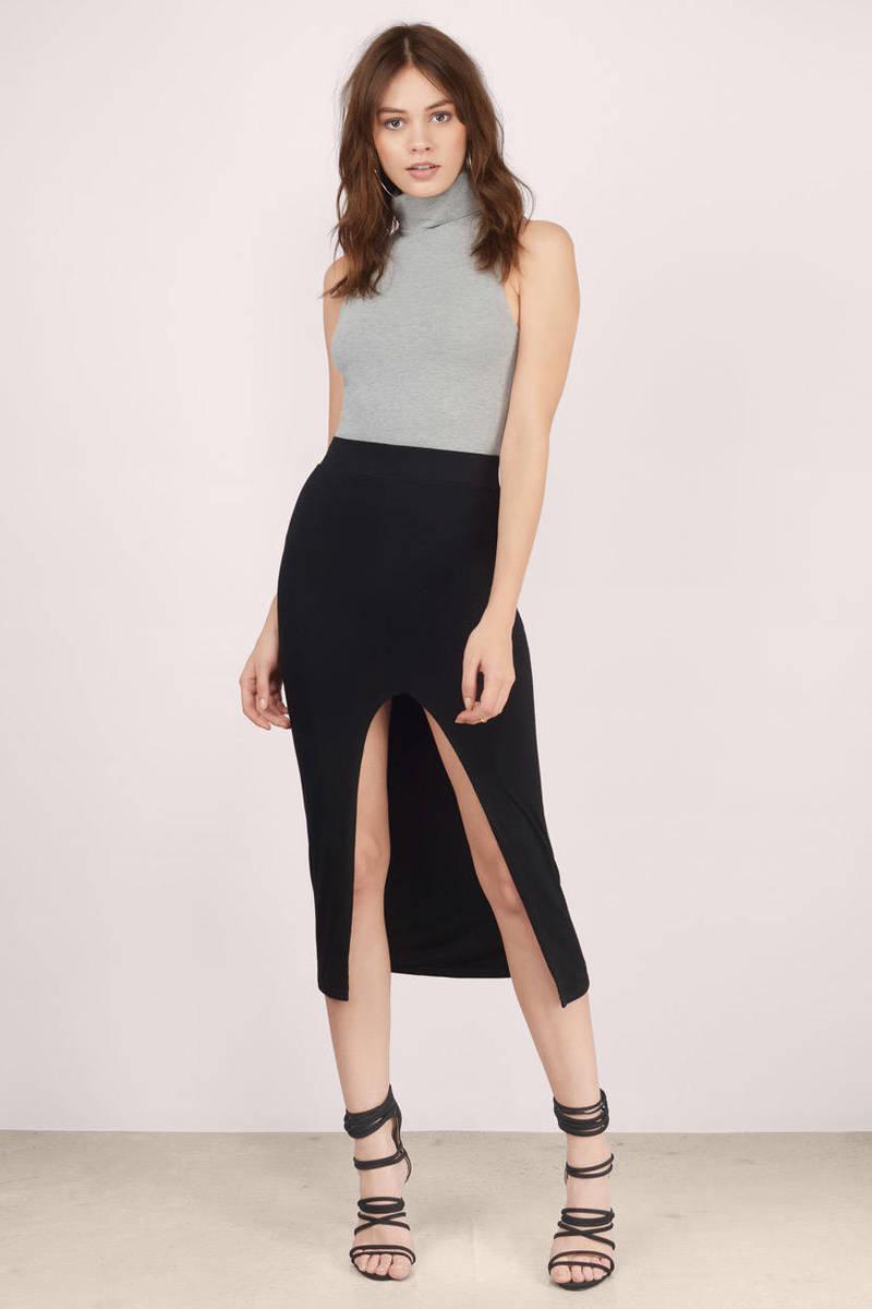 Brandi Black Maxi Skirt