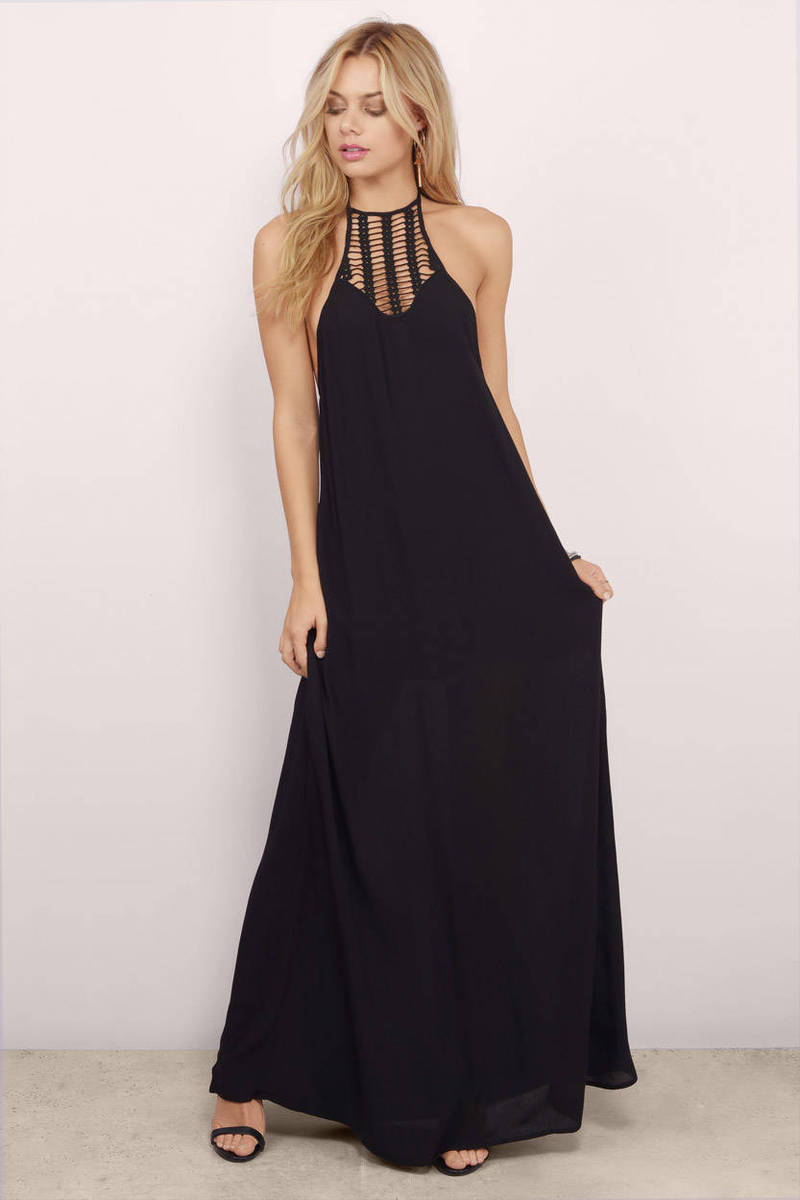 Breezy Feeling Black Maxi Dress