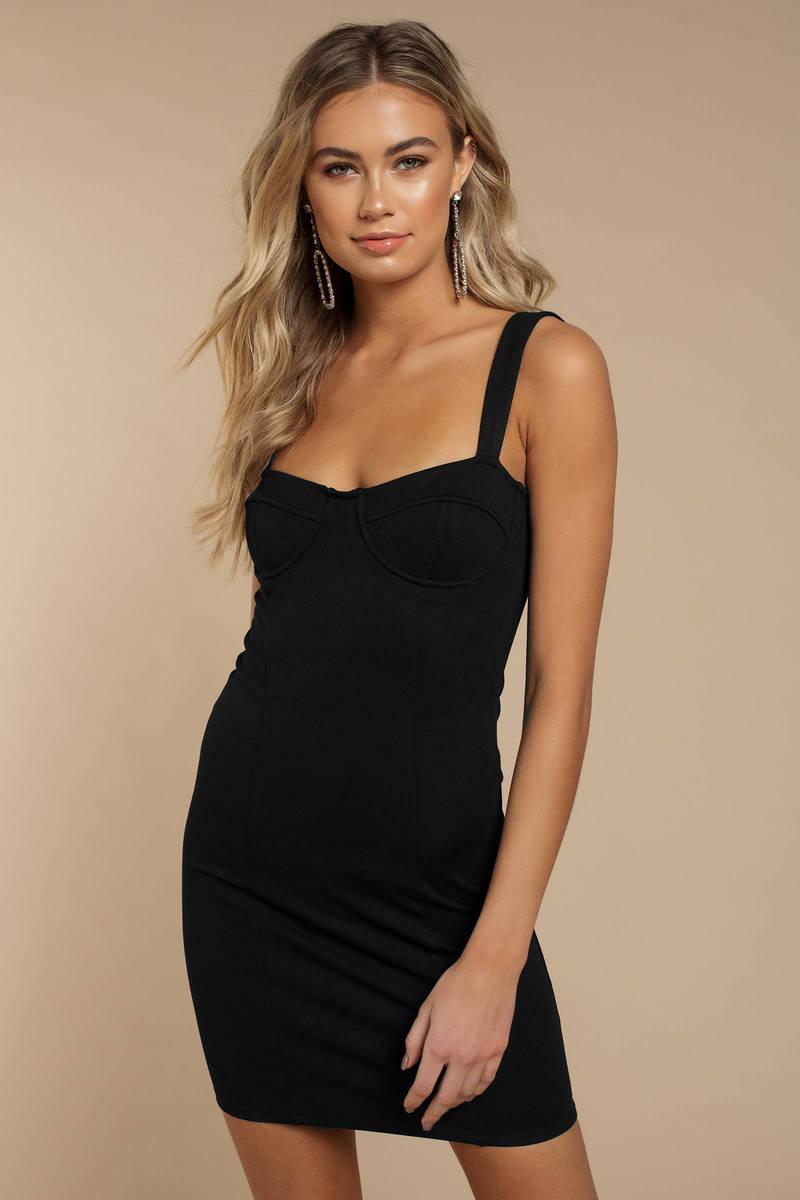 6e1198c4f85 Black Capulet Dress - Underwire Dress - Black Bustier Dress -  96 ...