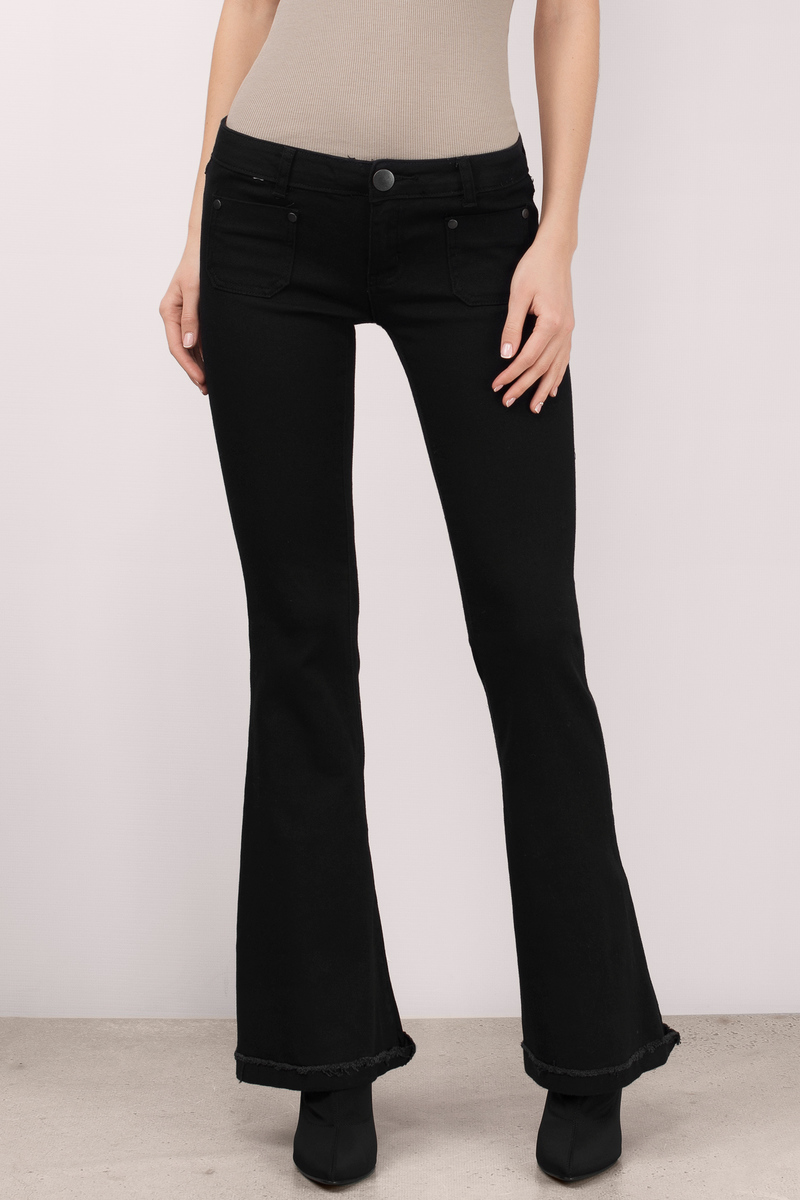 Cheap Black Denim Jeans - Black Jeans - Flared Jeans - $15.00