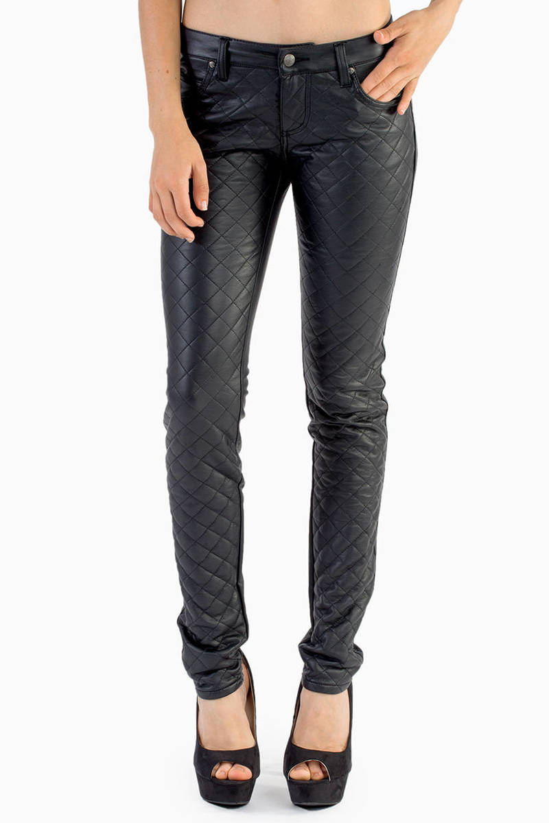 cce56d90caa8 Black Tripp Nyc Pants - Motorcycle Pants - Black Quilted Pants -  52 ...