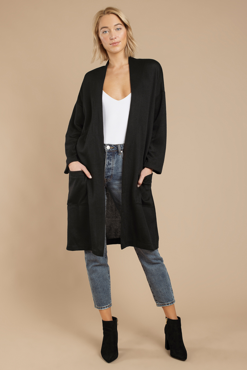 Camille Black Oversized Cardigan - $78 | Tobi US