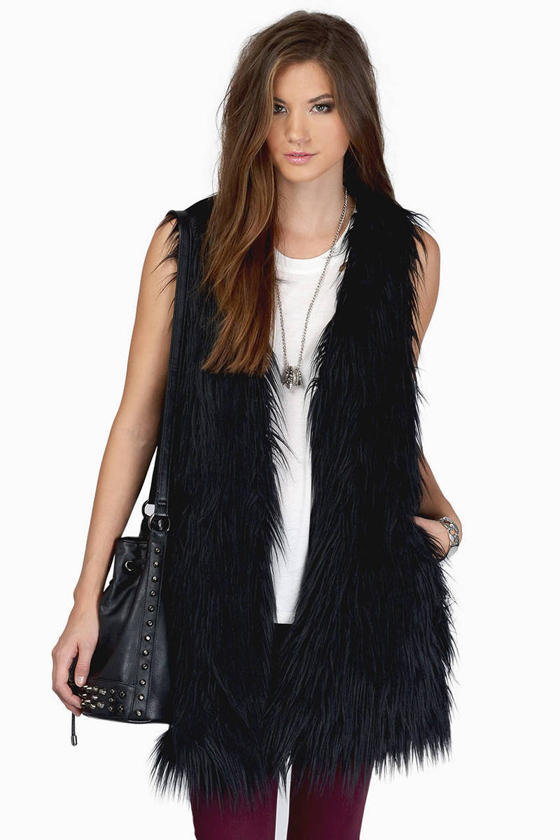 Can't Be Tamed White Fur Vest