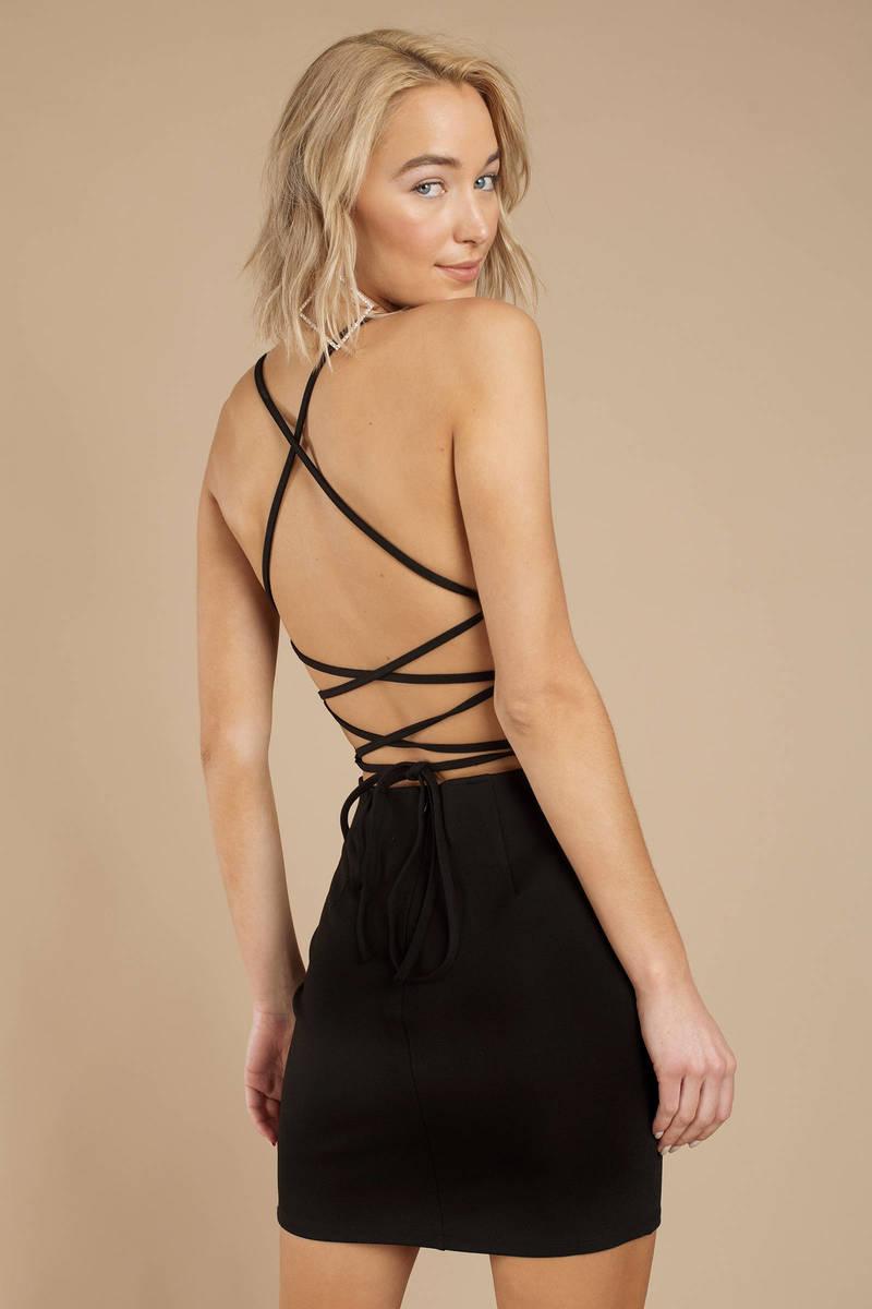 31b2ce18b3d Black Bodycon Dress - Strappy Bodycon Dress - Black Club Dress - $20 ...