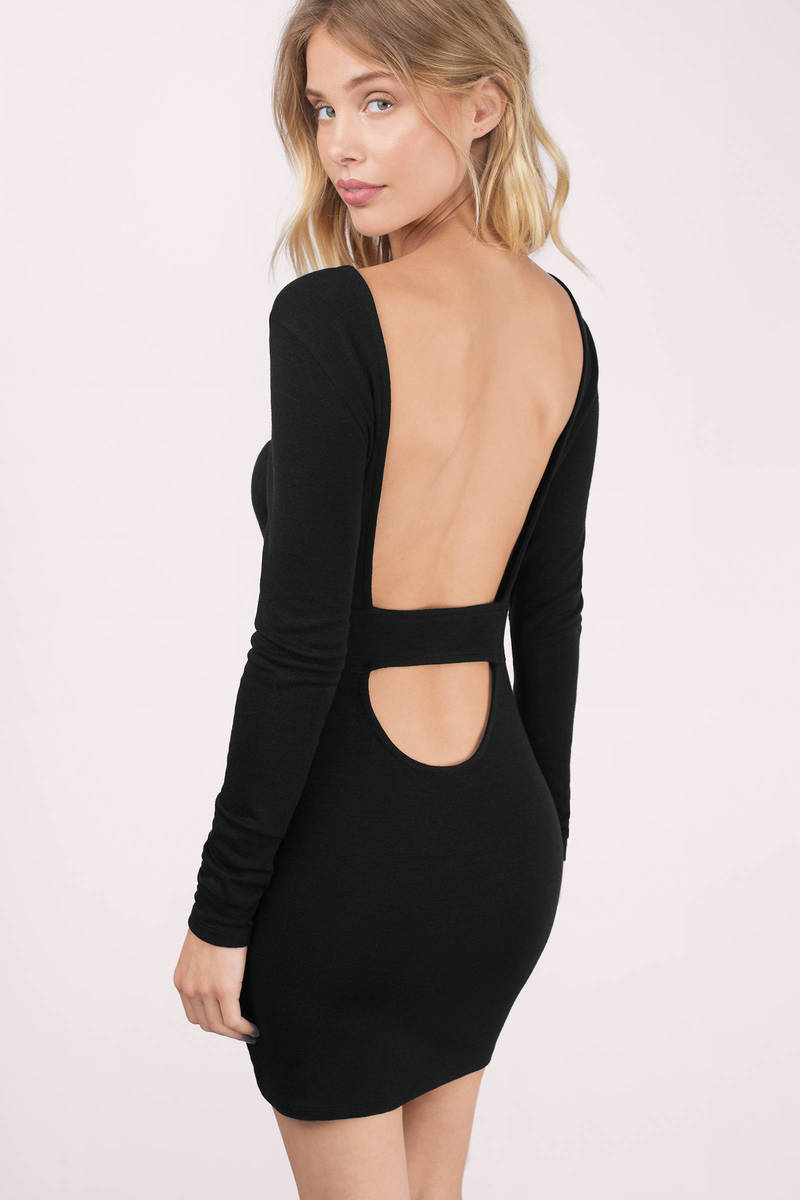 Captivated Black Bodycon Dress
