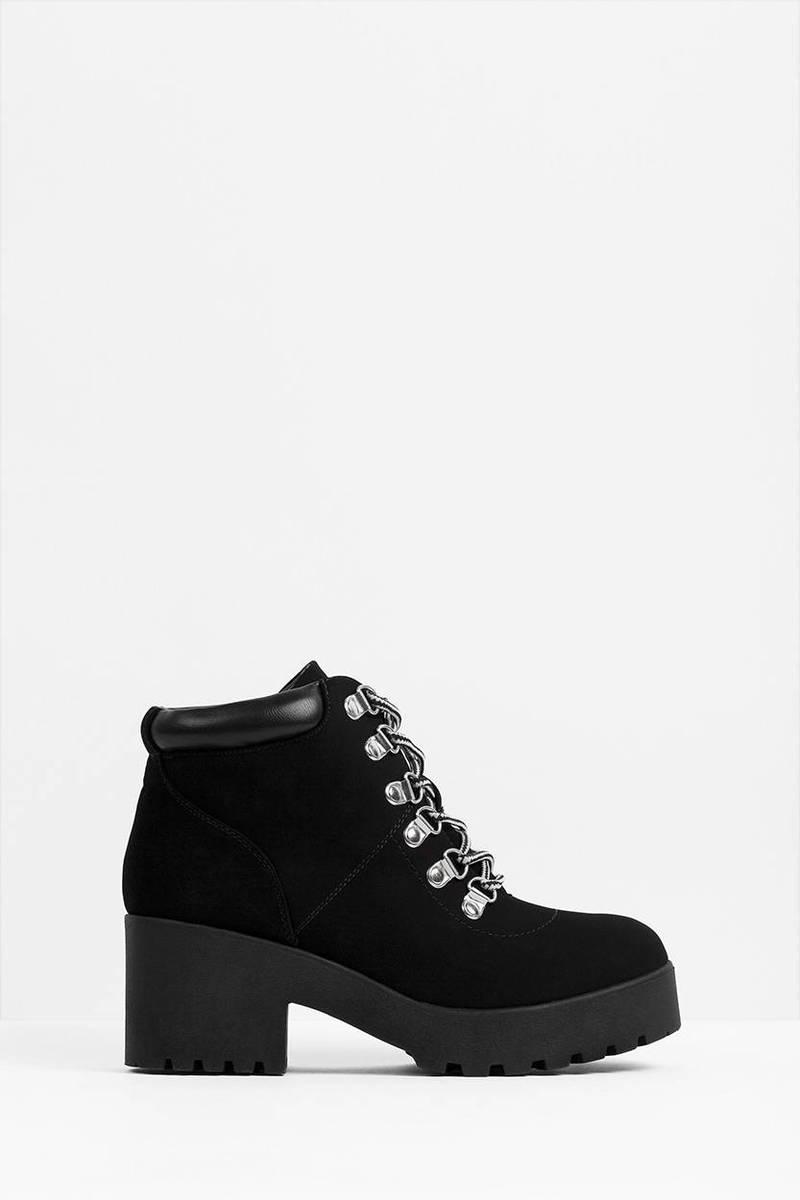Carah Black Velvet Boots
