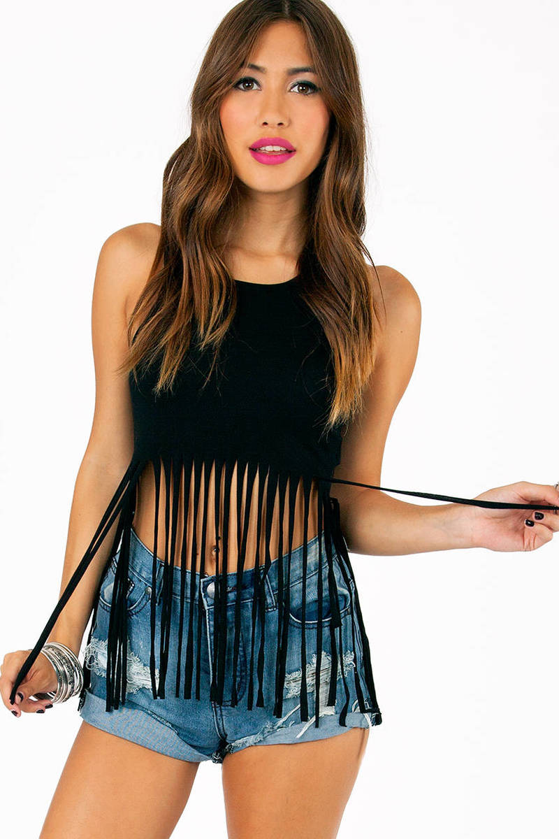 Cascading Crop Top