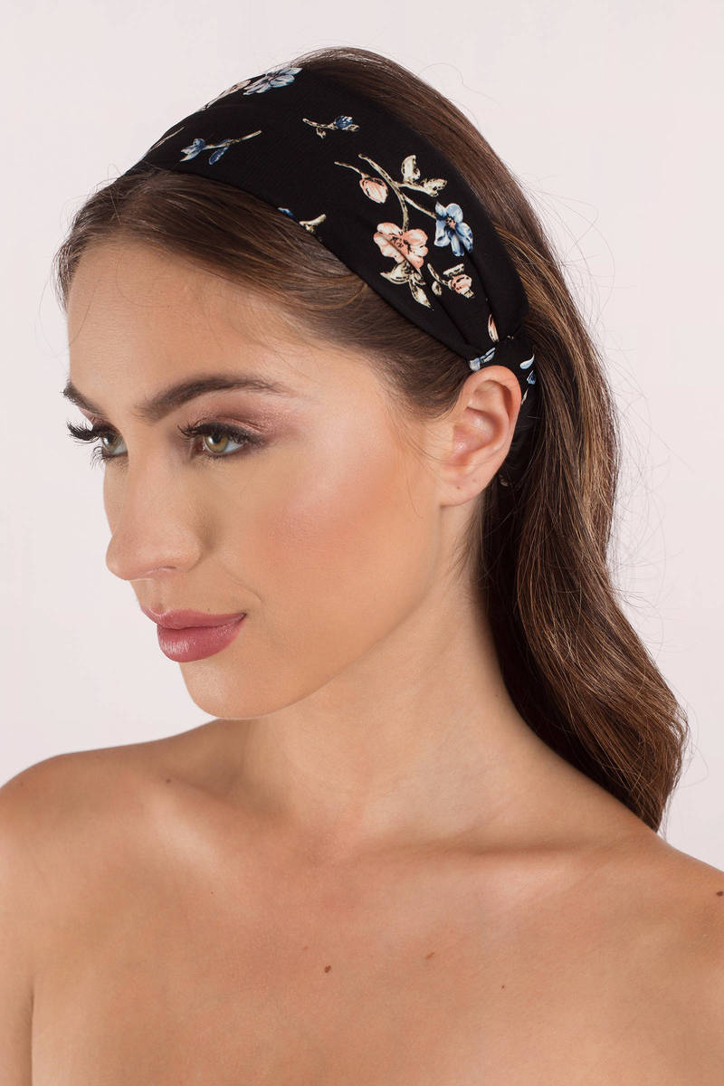 Casey Black Floral Head Band