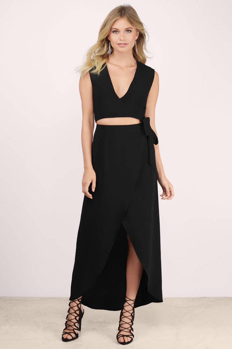 Catalina Black Maxi Dress