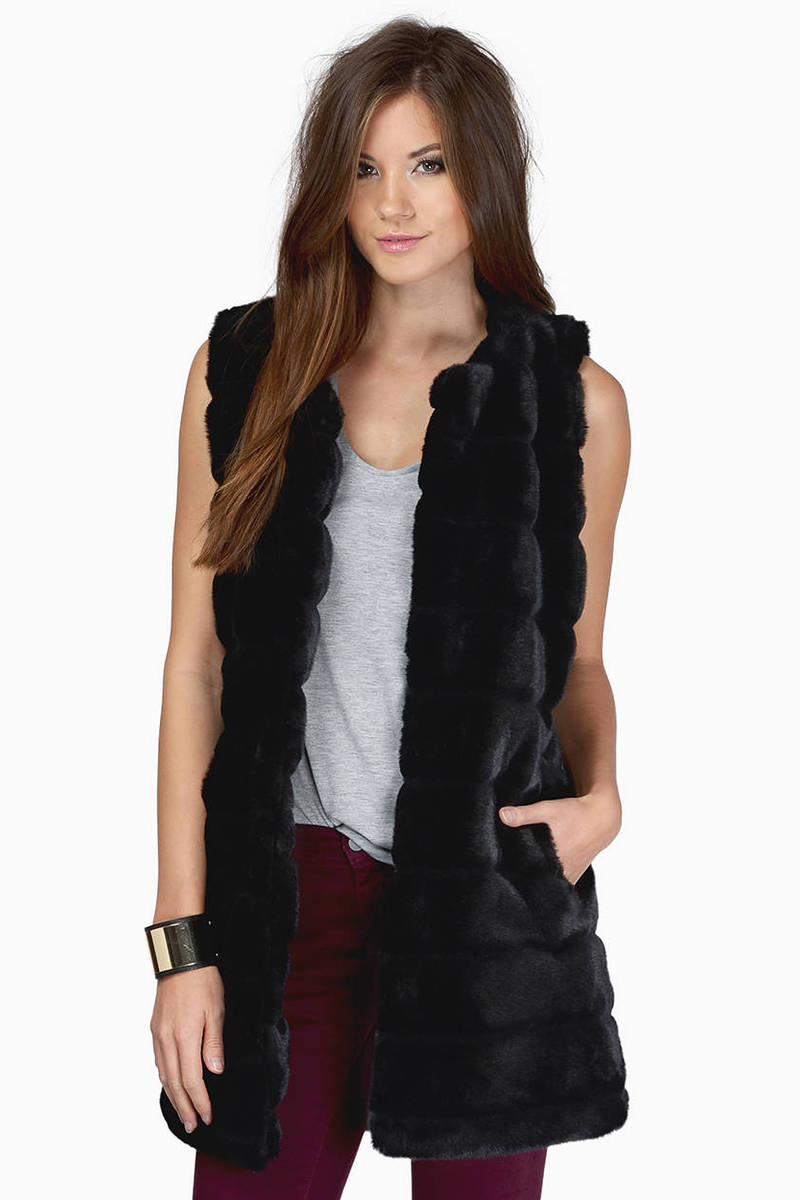 Catch Me In The Snow Fur Vest