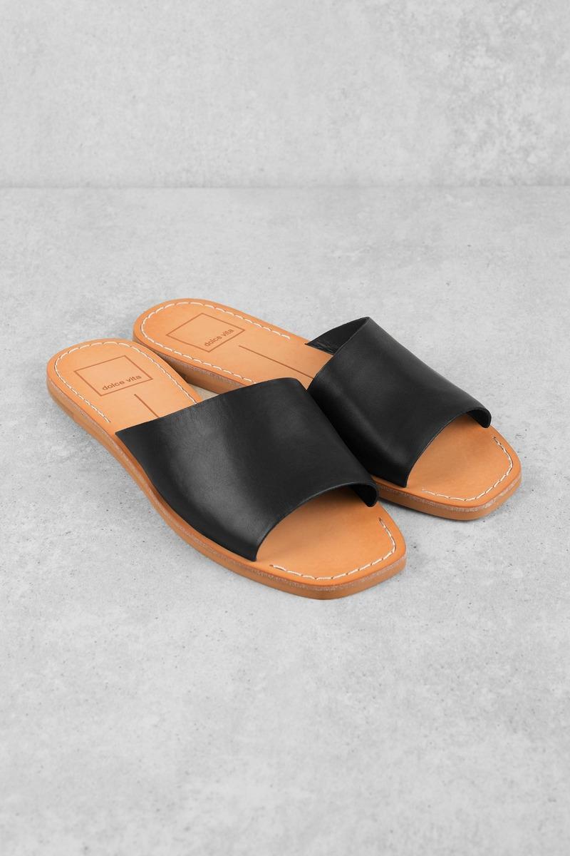 4d6a0ff11 Black Sandals - Beach Sandals - Black Linen Sandals - C$ 83 | Tobi CA