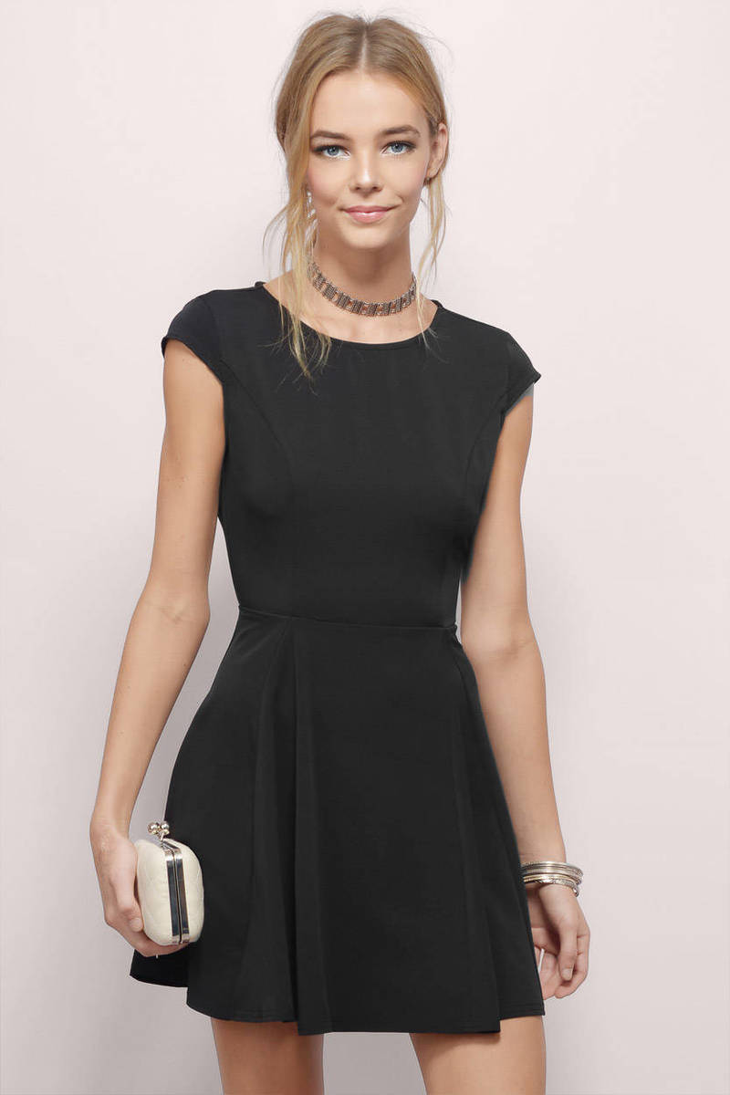 Caught By Surprise Wine Back Bow Tie Skater Dress