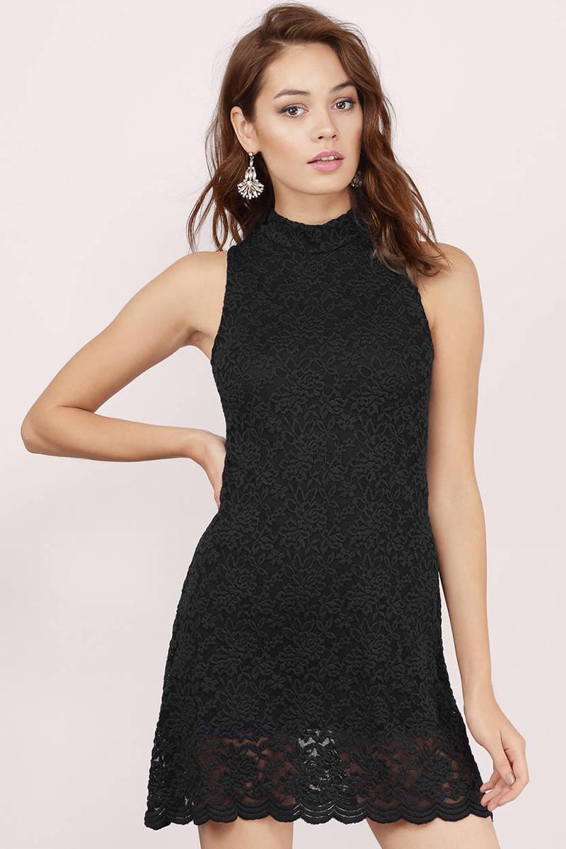 Celeste Black Lace Bodycon Dress