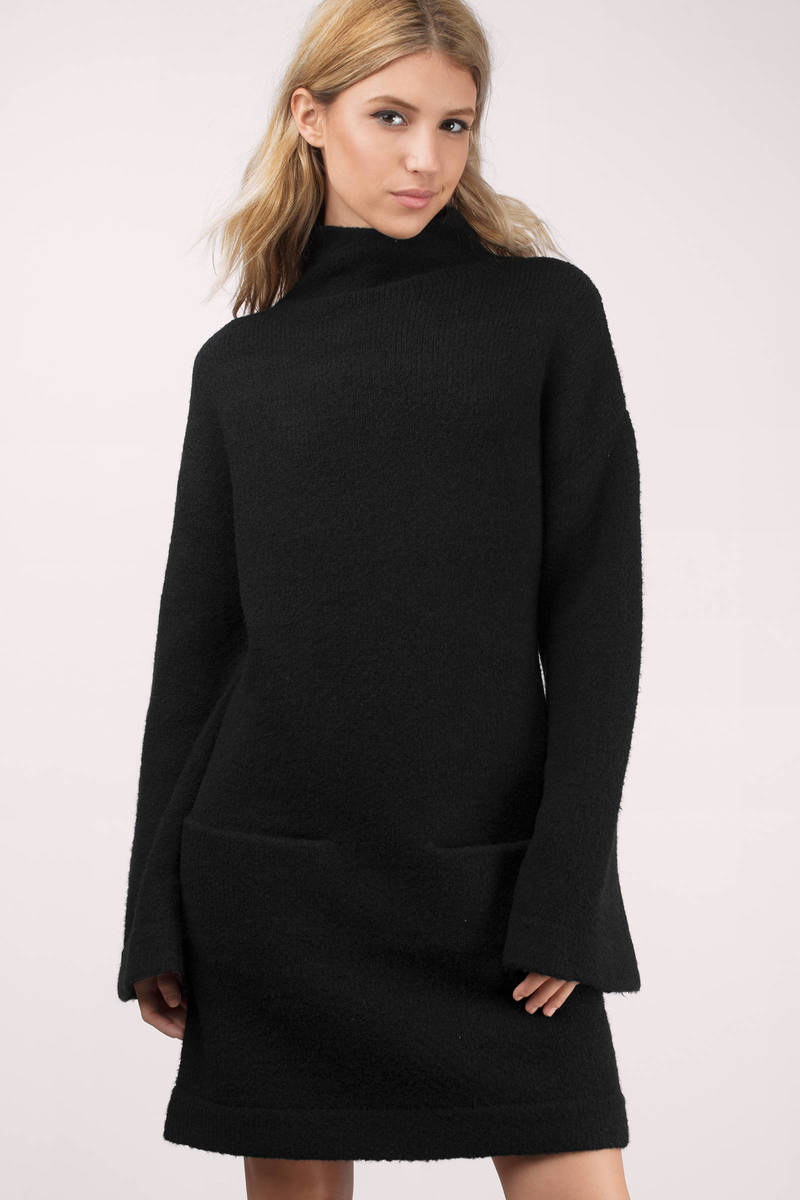 Cameo Cameo Change For Love Black Knit Sweater Dress