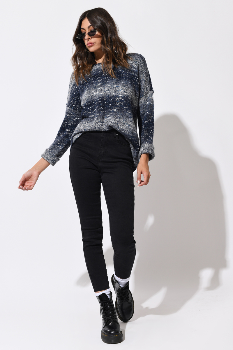 Black Skinny Jeans - High Rise Jeans - Black Cropped -4420