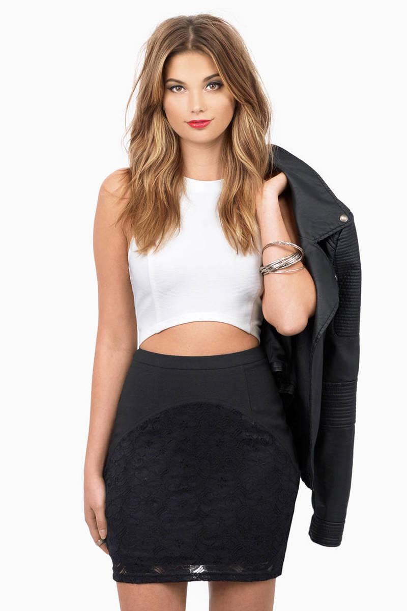 Charis Black Pencil Skirt