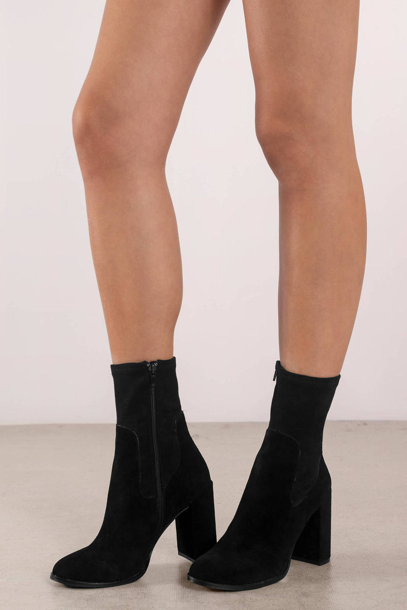 Chinese Laundry Chinese Laundry Charisma Black Suede Booties