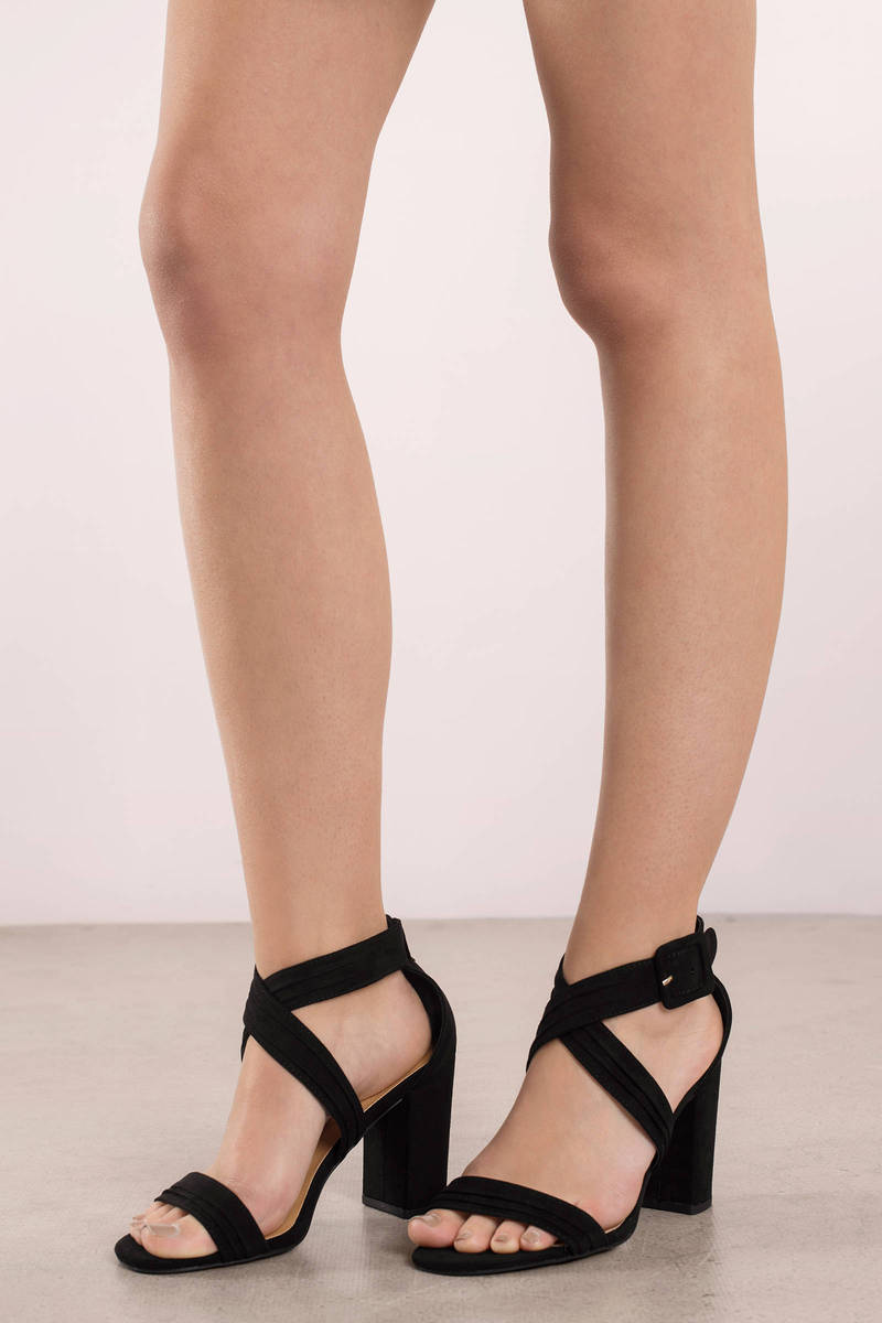 Chester Black Strappy Heels