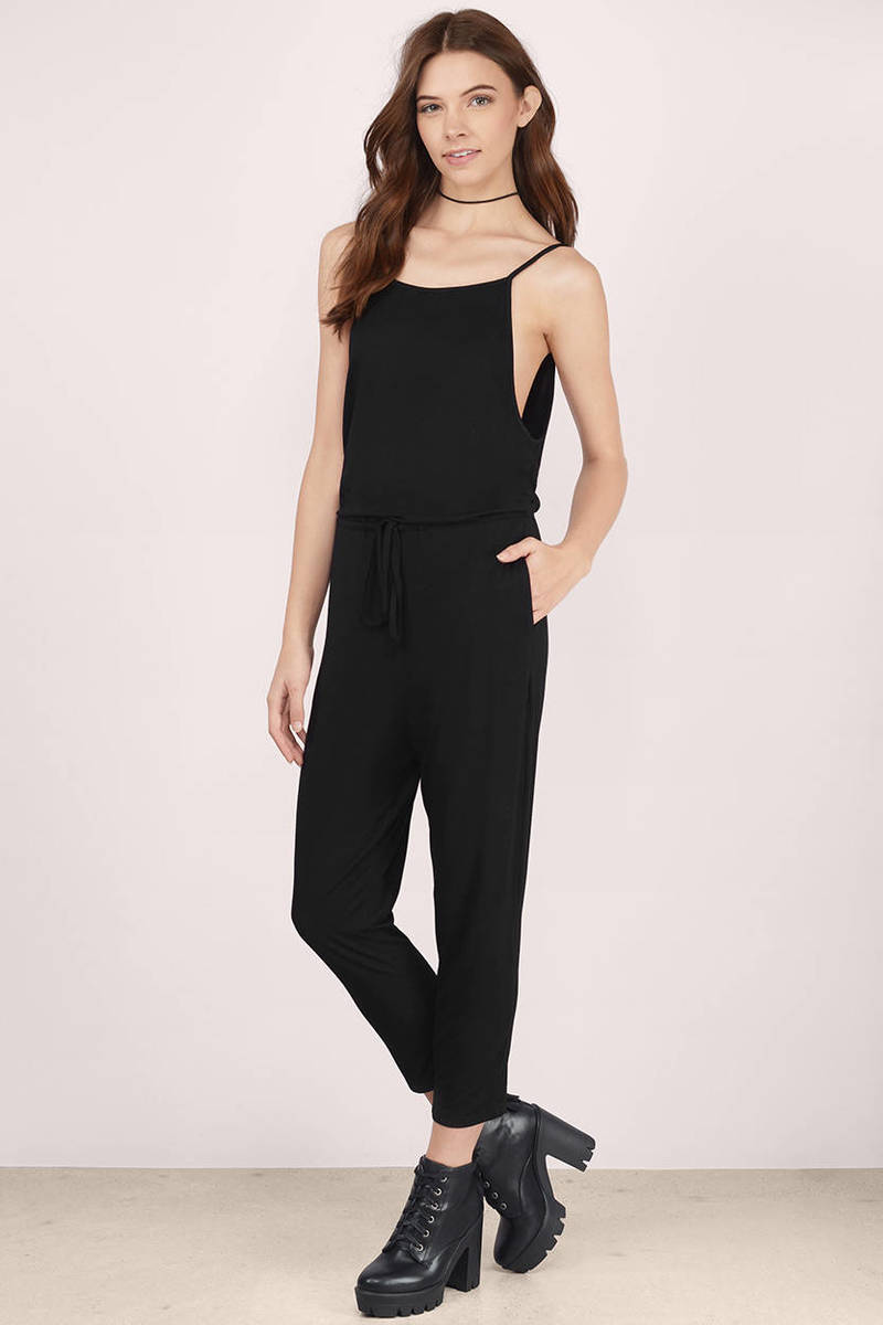 Chillax Black Jersey Jumpsuit