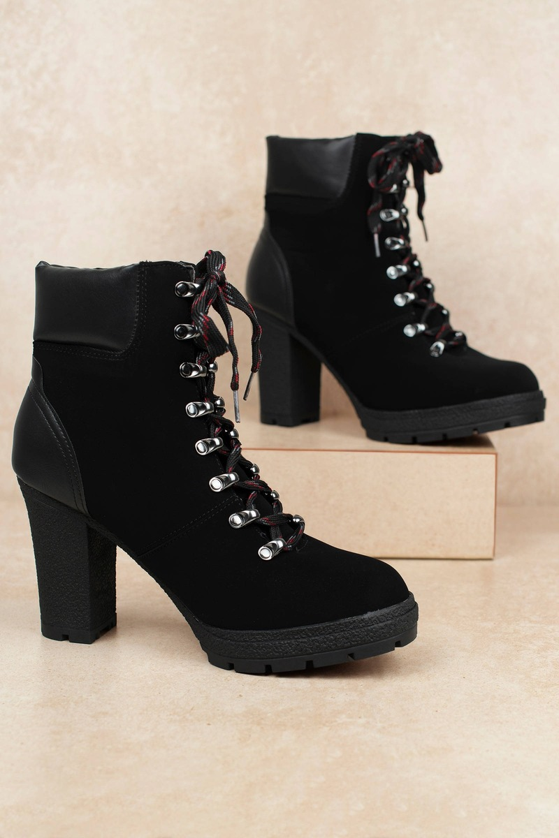 f1ac35fced0 Ciara Faux Suede Lace Up Ankle Booties