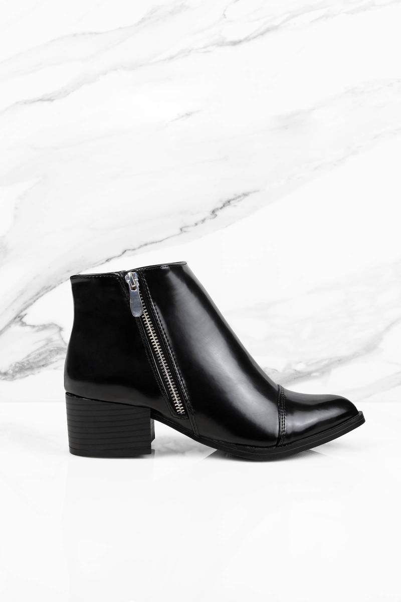Cindy Black Ankle Booties