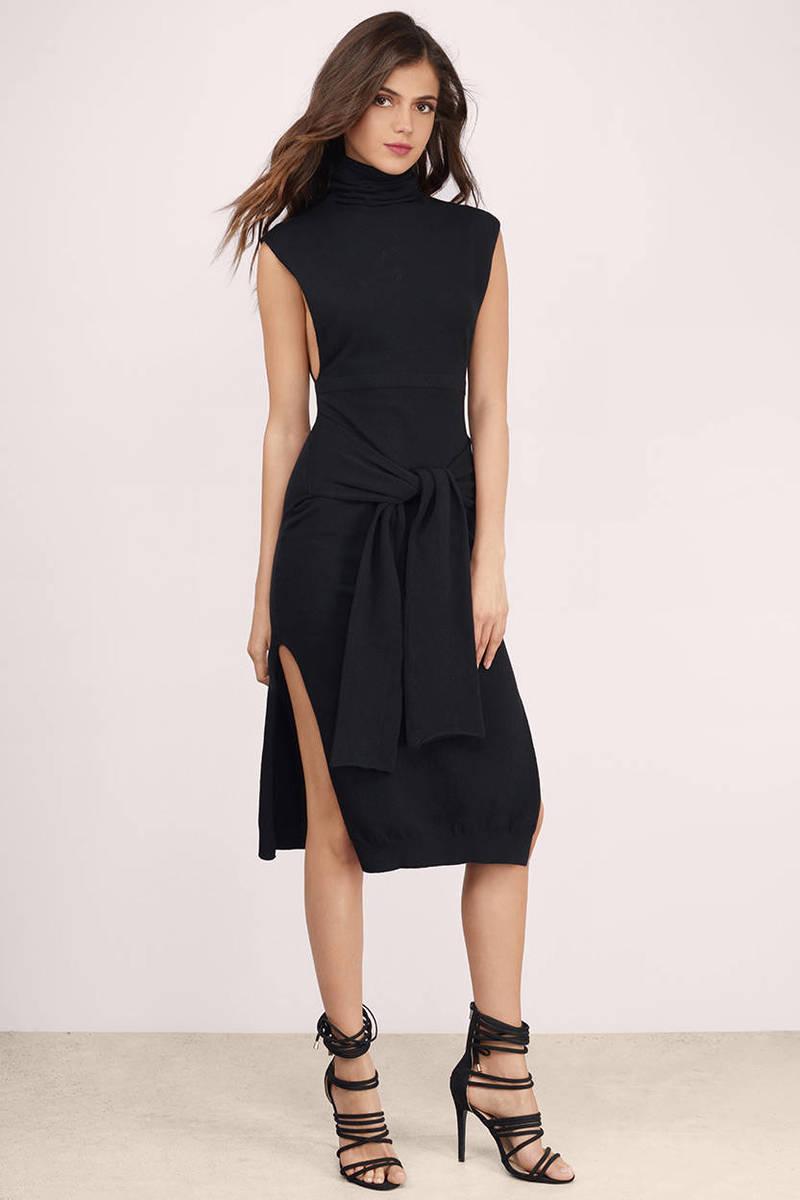 Bless'ed Are the Meek Bless'ed Are The Meek Clamp Black Midi Dress