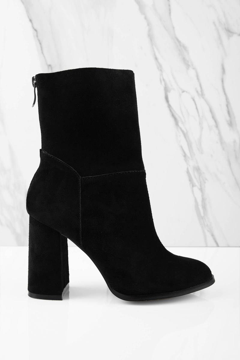 Black Boots - Ankle Boots - Chunky Heel Boots - Black Shoes | Tobi