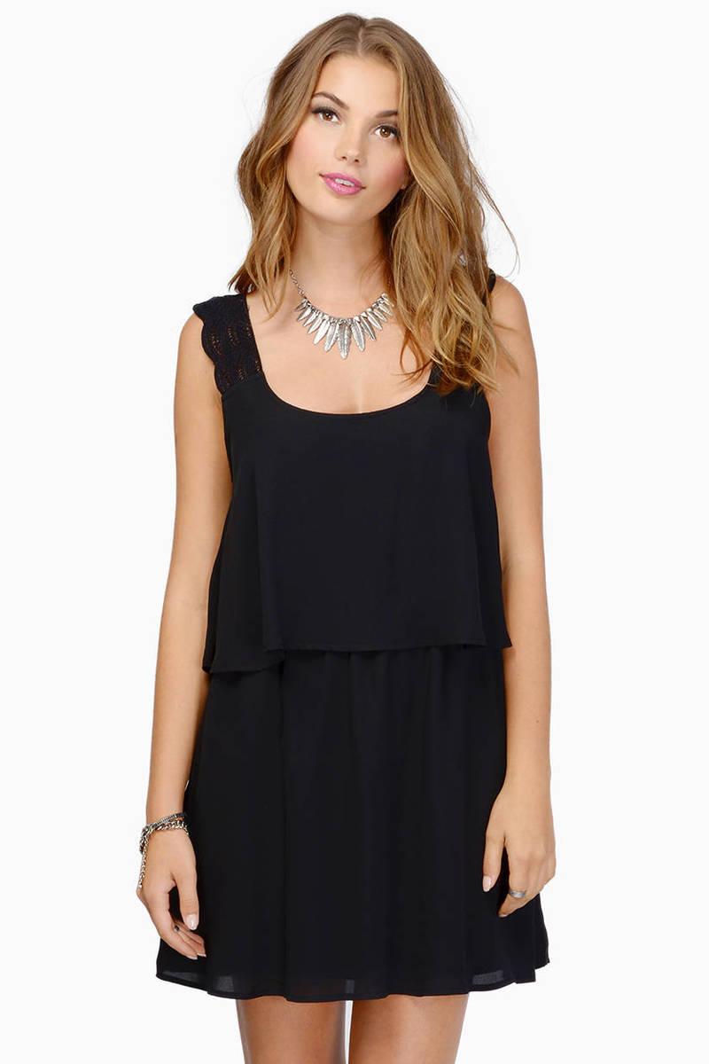 Clear Mind Black Shift Dress