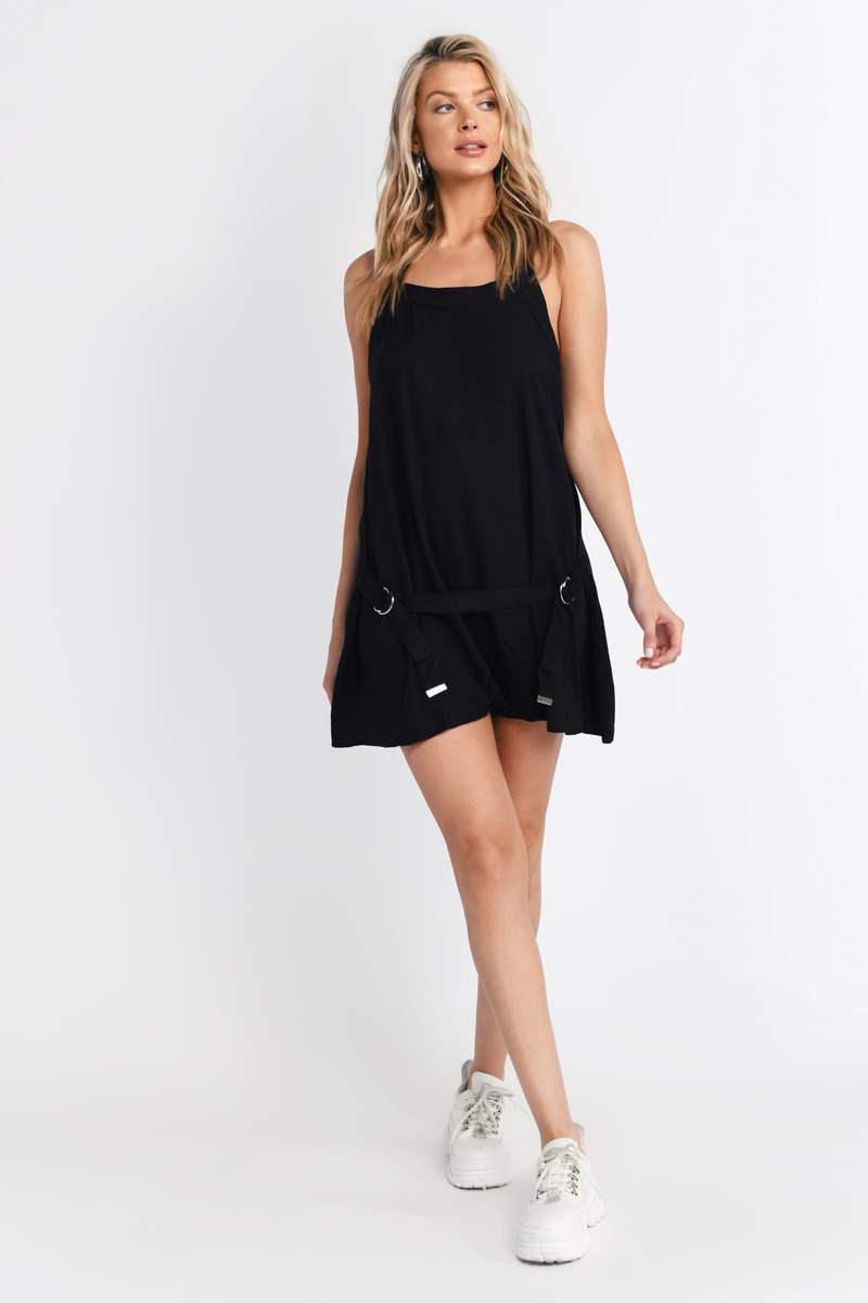 Close Call Black Shift Dress