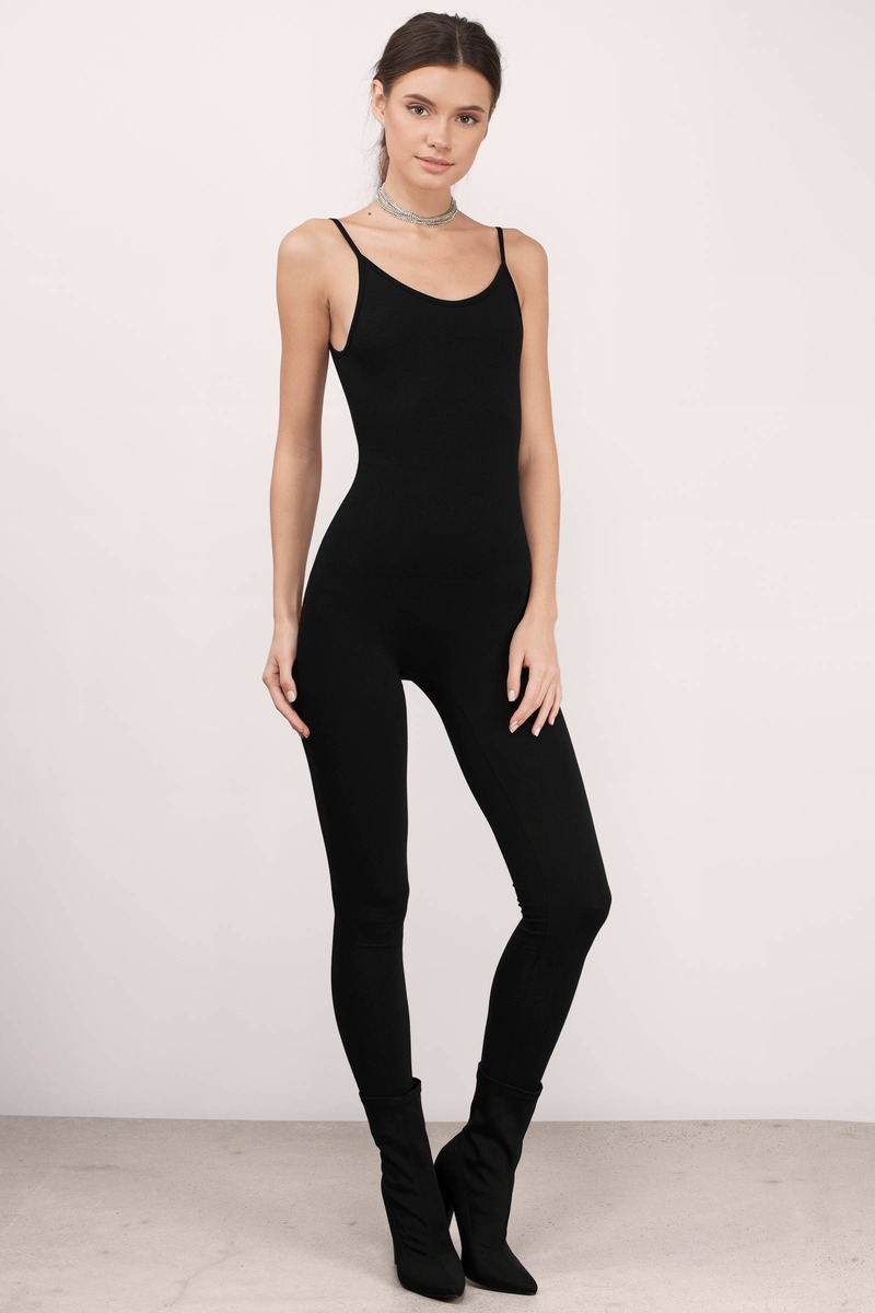 Cory Black Knitted Cami Jumpsuit