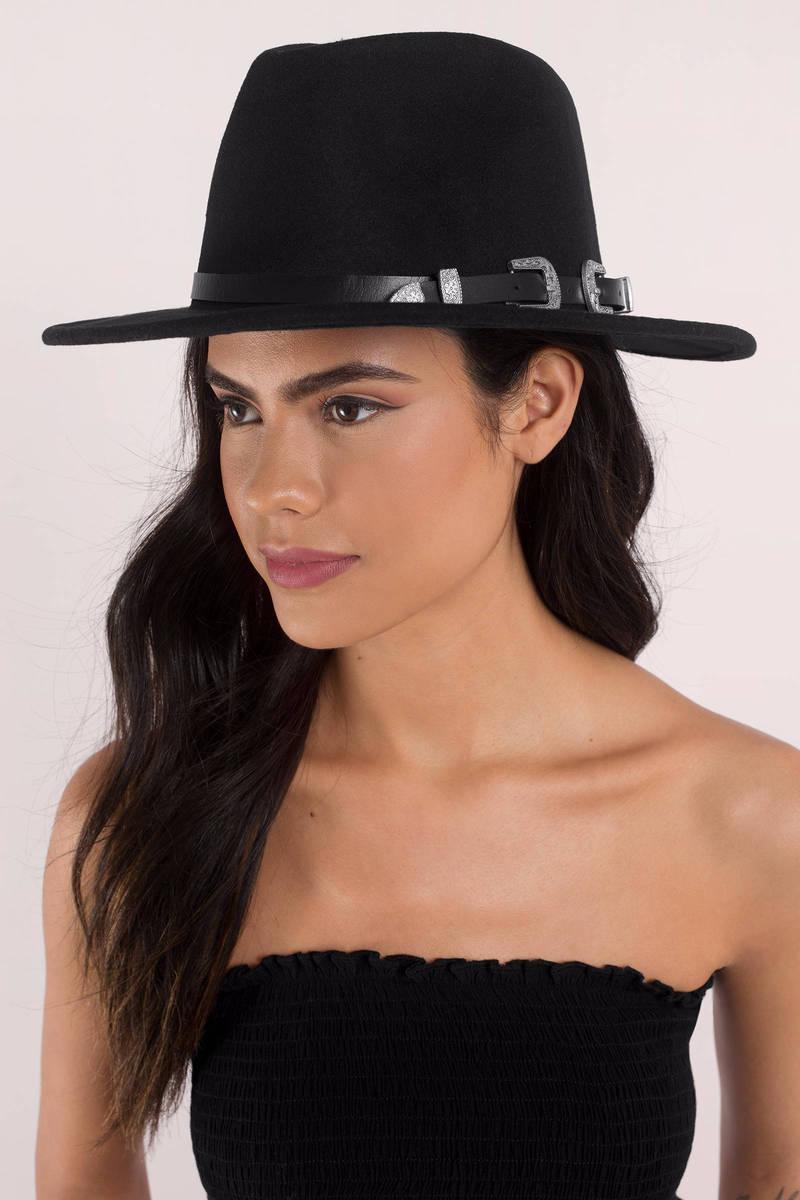 Costa Mesa Black Double Buckle Hat