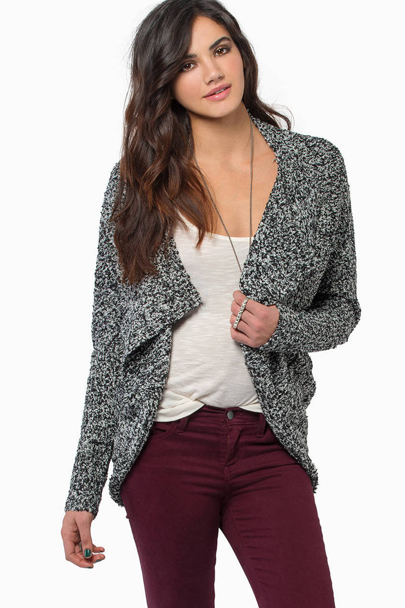 Cozy Up With Me Black Cardigan