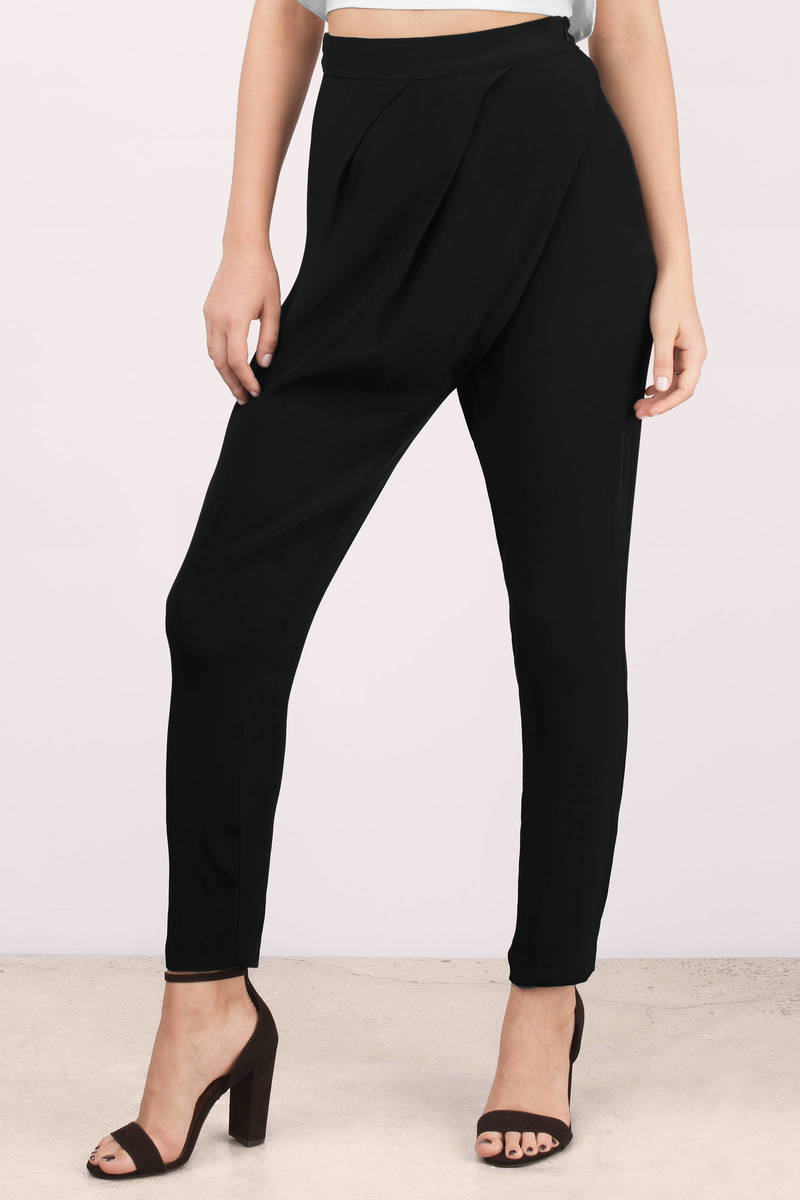 Bless'ed Are the Meek Bless'ed Are The Meek Cursive Black Trouser Pants