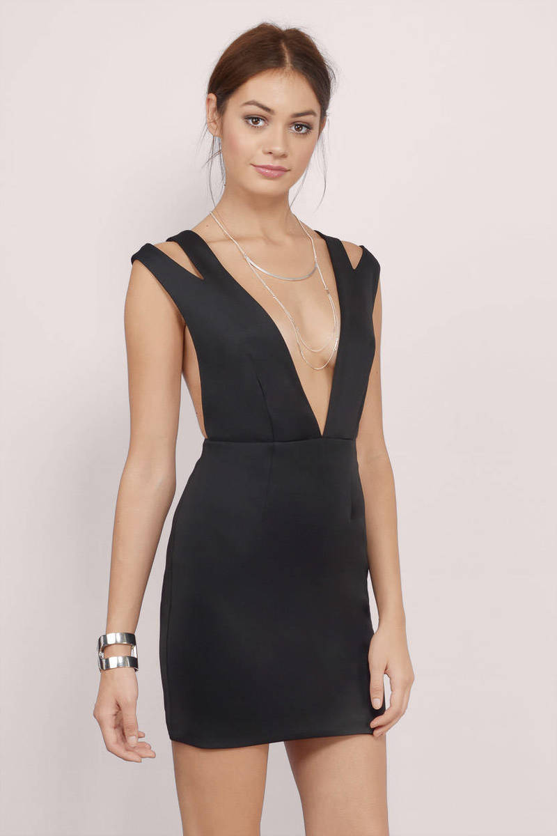 Cut And Paste Black Bodycon Dress