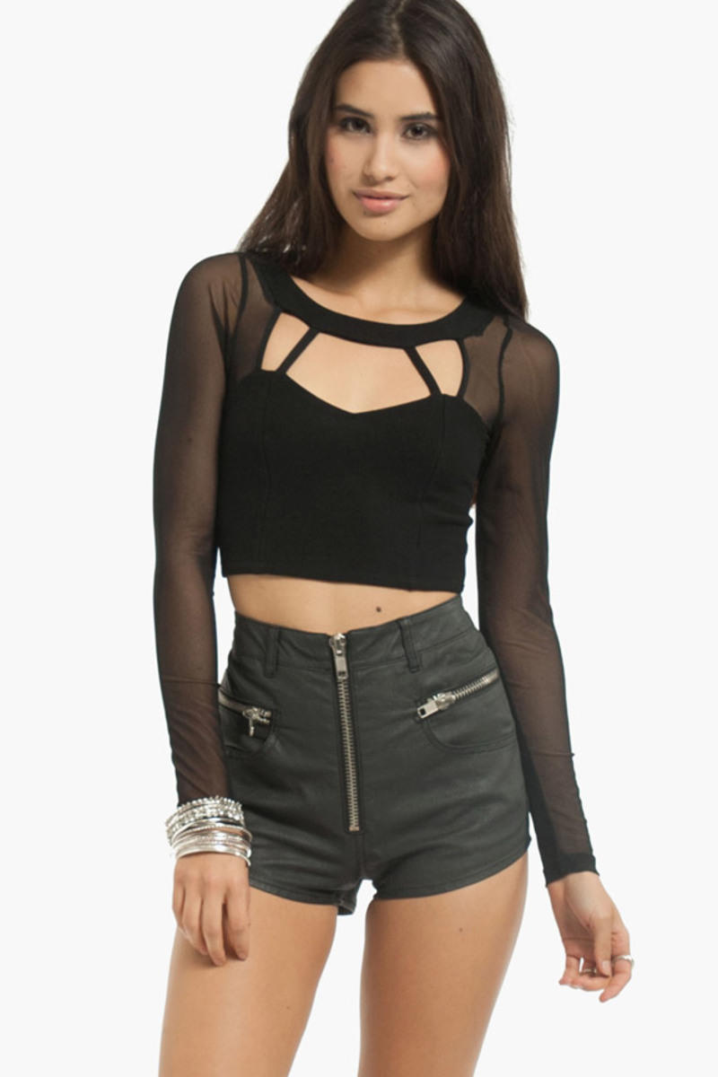 Cut to the Mesh Crop Top