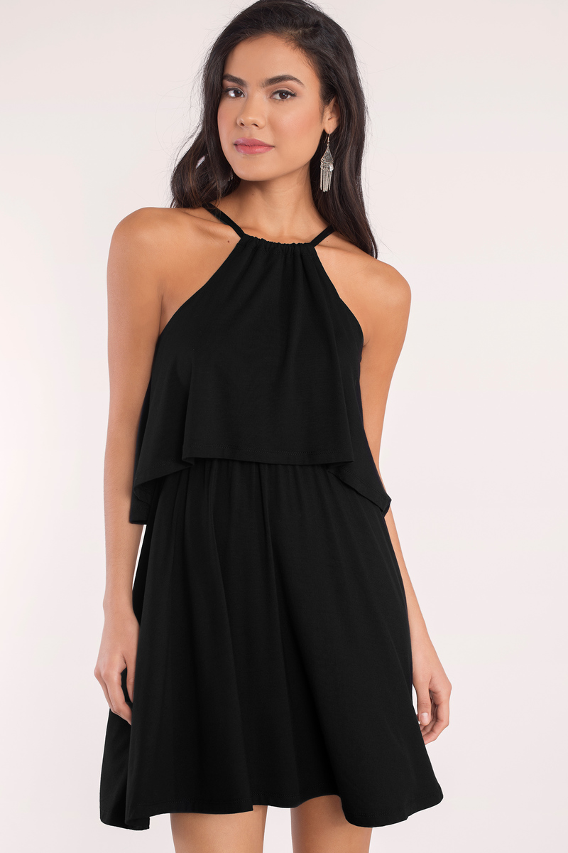 Daily Double Black Tiered Dress
