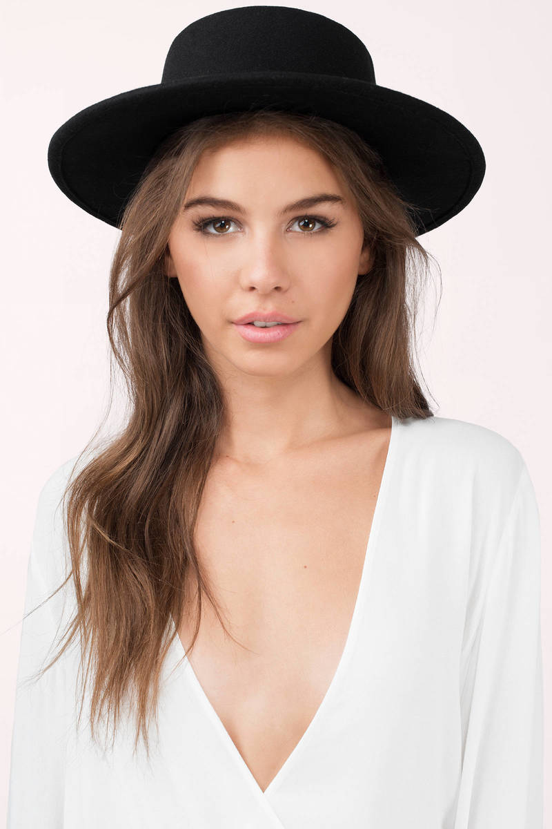 Dani Black Wide Brim Hat