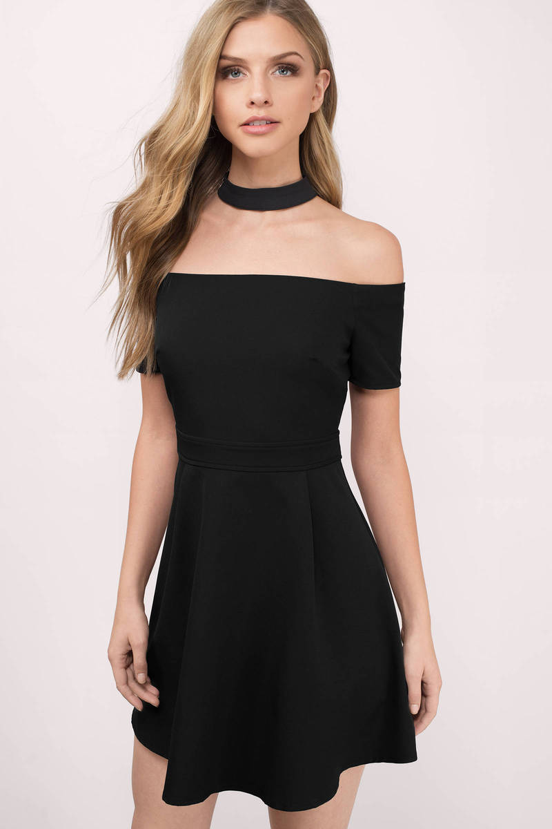 Dark Side Black Skater Dress