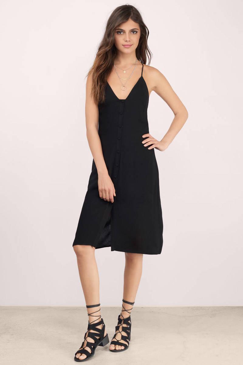 Darla Black Shift Dress