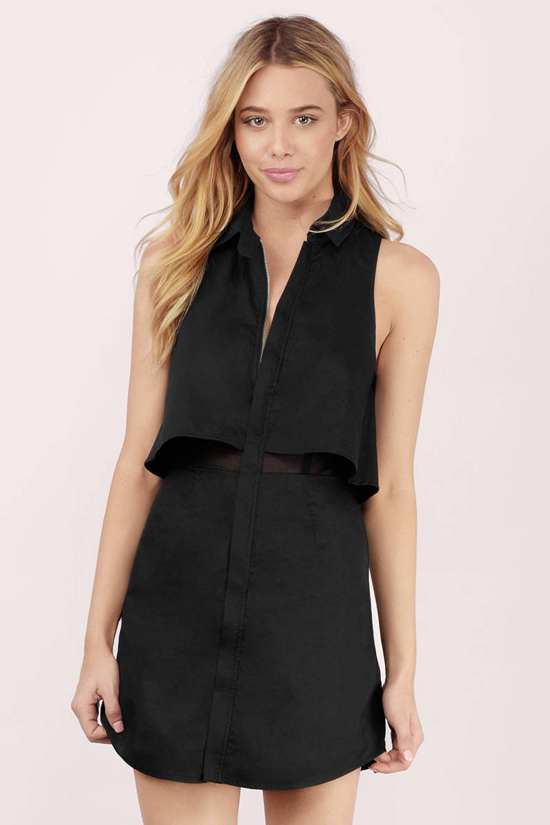 Daryn Black Shift Dress